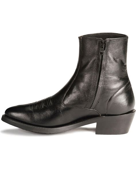 Old West Zipper Western Ankle Boots - Country Outfitter