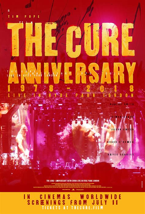 The Cure concert film of 40th anniversary in Hyde Park