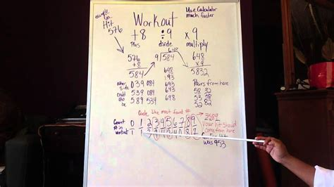 Lottery work out +8 divide by 9 then x9 - YouTube