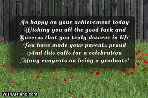 So happy on your achievement today, Graduation Message