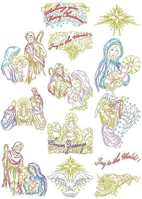 Vintage Nativity Designs   Machine Embroidery Designs By