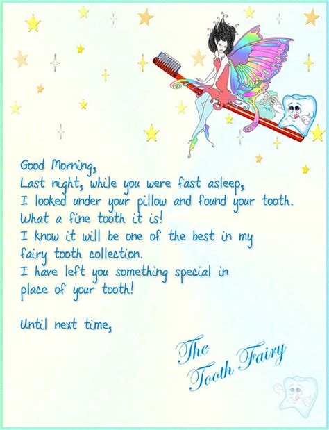 Tooth Fairy Letter 1 | Visit my site Multimedia Design by