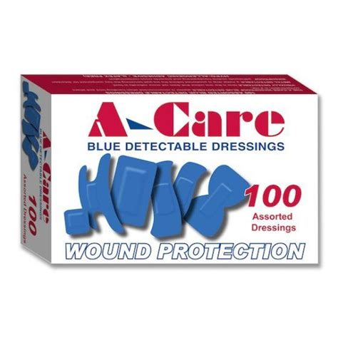 Blue Detectable Plasters A-Care Assorted 100pkt | First