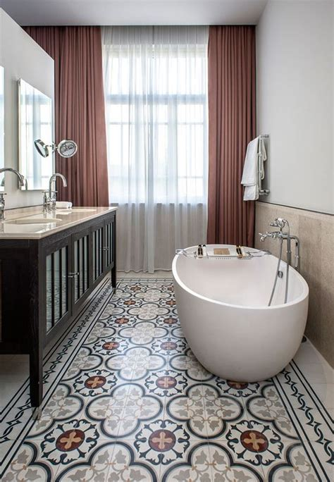 Patterned Bathroom Floor Tiles That Will Draw Your Attention
