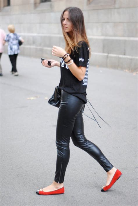 20 Women Leather Pants-Trend For This Season - ALL FOR