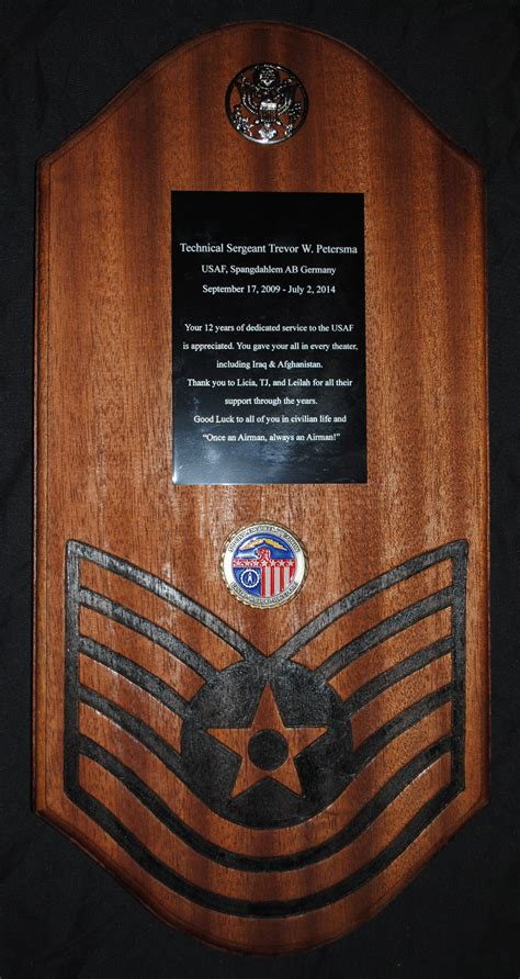 Going Away gift for USAF Tech Sergeant