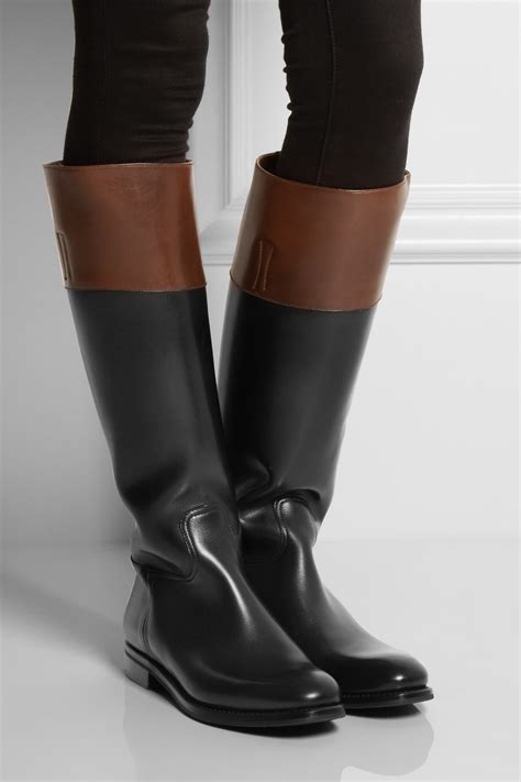 Church's Martina Two-tone Leather Riding Boots in Black - Lyst