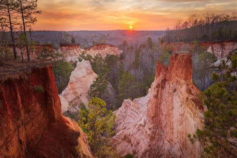 Providence Canyon Sunset   Sunset in South Georgia at