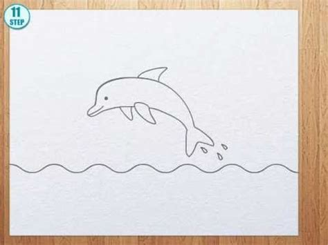 How to draw a Dolphin step by step   Dolphin painting