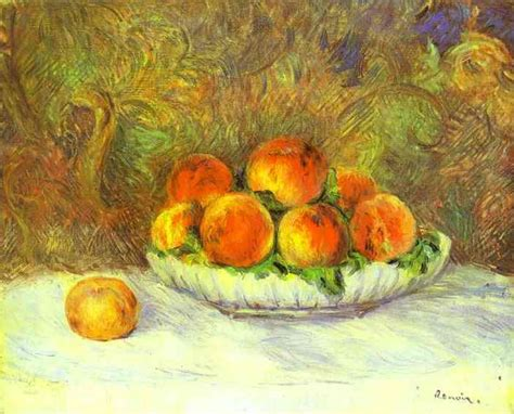 Still Life with Peaches - Pierre-Auguste Renoir - WikiArt